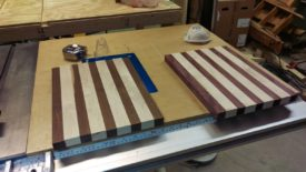 Laying out the boards in the desired order