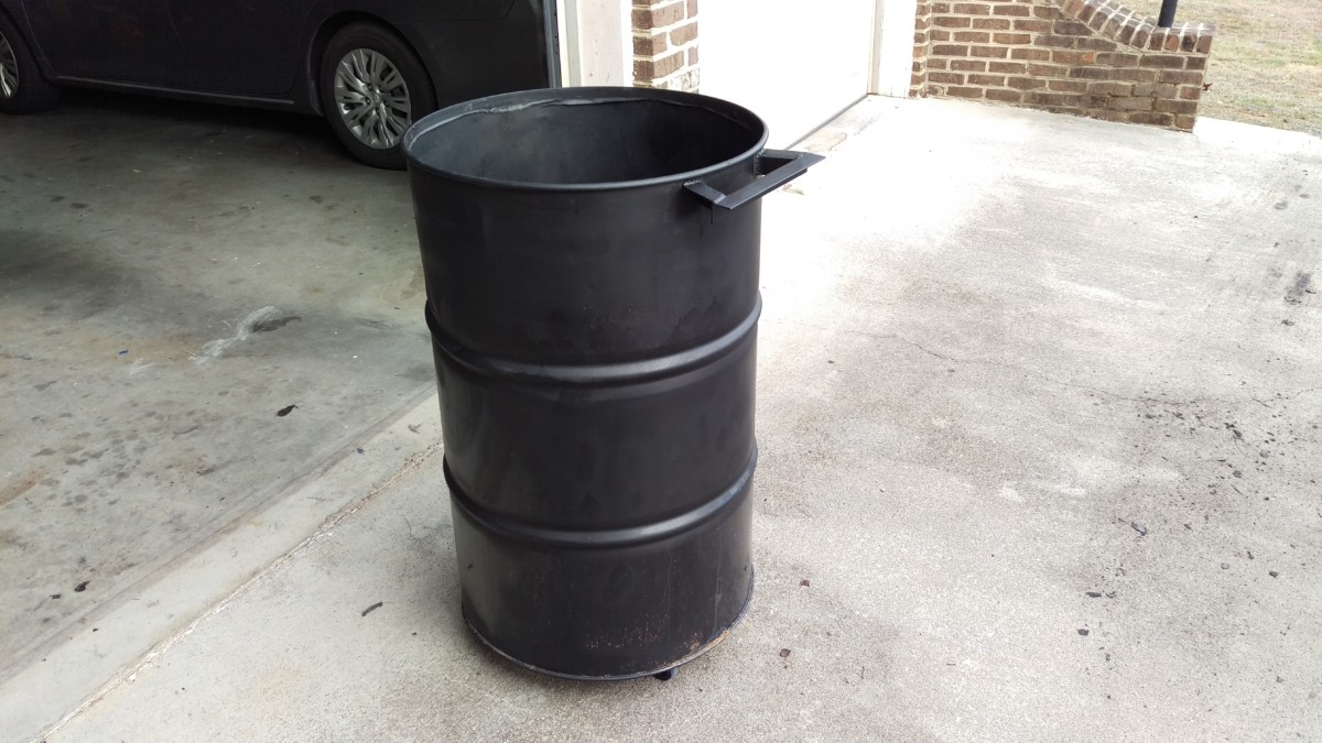 First Welding Project: Shop Trash Can from Steel Barrel - Did It Myself
