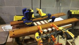 Using cauls and a lot of clamps