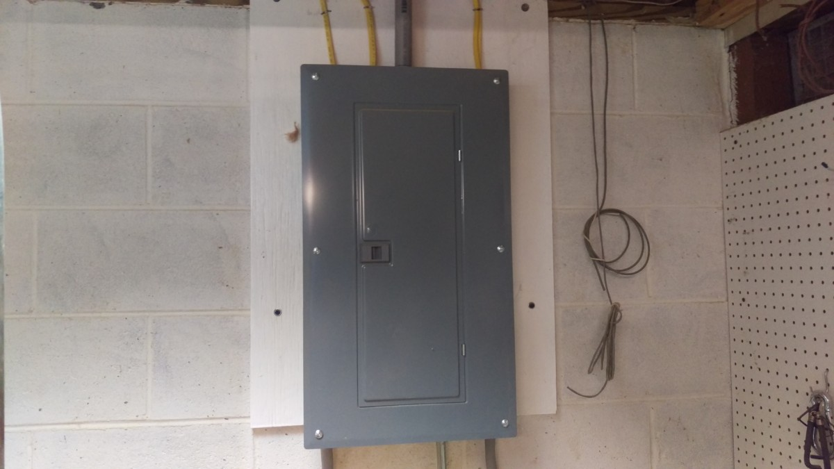 Adding A 220 Outlet Did It Myself 100 Sub Panel Wiring Diagram On Electrical To Shed I Have In My Shop Now That Had Wire
