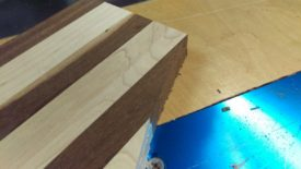 Go back with the bandsaw until the board looks more like this, THEN router