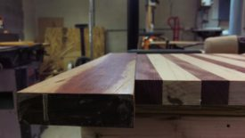 The bloodwood was already the same thickness as the board
