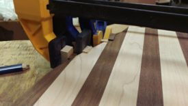 Gluing blocks of new wood