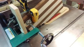 The tenon jig let me flush trim these