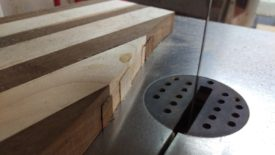 Flush cutting with the bandsaw