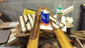 Wipe with a solvent like denatured alcohol for oily woods like cocobolo