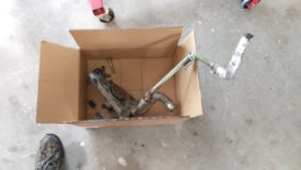 Water pump removed
