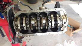 All four pistons and rods removed