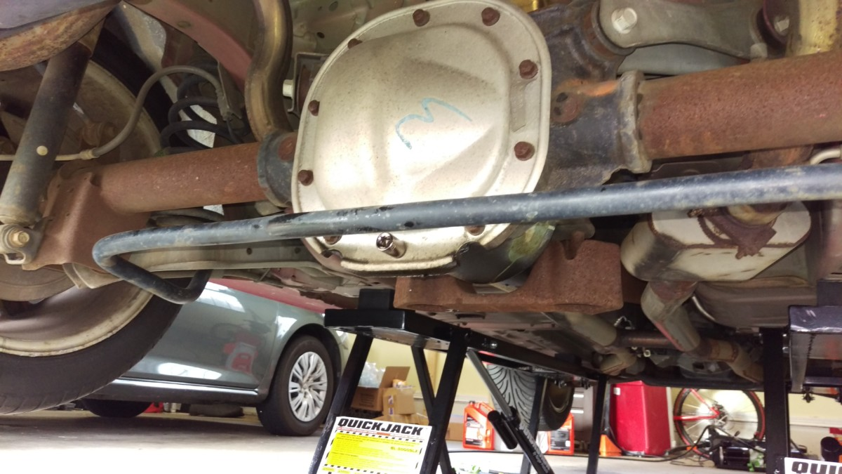 94 04 Mustang Rear Differential Oil Replacement Did It Myself Fuel Filter Location The Cover
