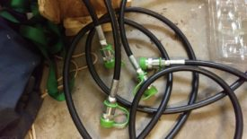 Long hoses ready for use