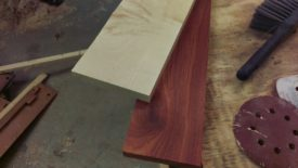 Maple and bloodwood laminate together very nicely