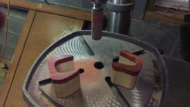 Drum sanding before glue up
