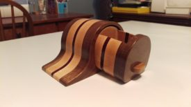 Walnut, maple, and bloodwood