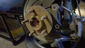 Wheel hub after rotor removed
