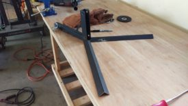 How the stand will look, with the hitch mount unbolted from the rack