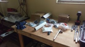 All the parts on my bench