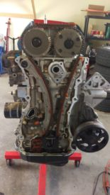 Timing chain exposed