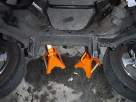 Jack stands to help support the subframe