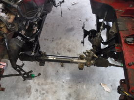 The steering rack can be installed next